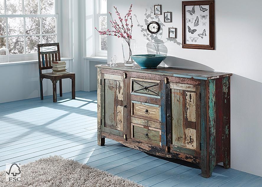 Sideboard mit 2 t ren 3 schubladen 3706 himalaya for Pochoirs meubles