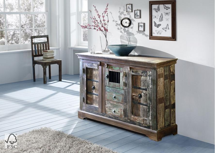 kommode mit eisen 3 t ren 2 schubladen 3747 himalaya. Black Bedroom Furniture Sets. Home Design Ideas