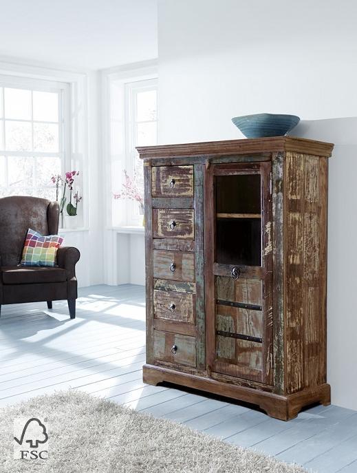 kommode mit 1 t r 5 schubladen 3748 himalaya m bel. Black Bedroom Furniture Sets. Home Design Ideas