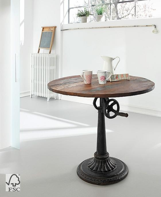 tisch h henverstellbar aus metal 90x90 106 3753. Black Bedroom Furniture Sets. Home Design Ideas