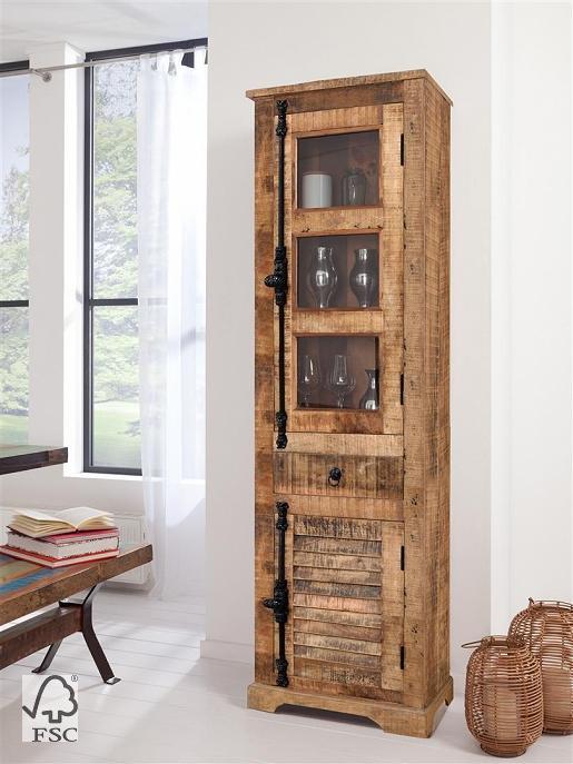 vitrine1 trg 1 glas 1 holzt r 1 schublade 3791. Black Bedroom Furniture Sets. Home Design Ideas