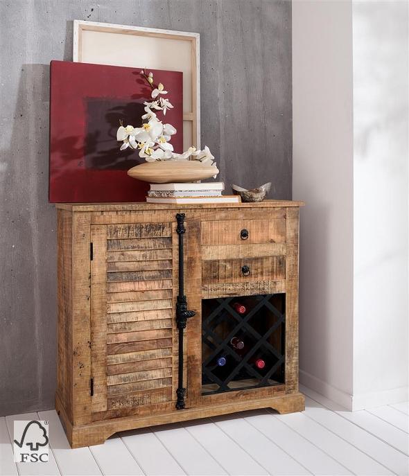weinkommode mit 1 t r 2 schubladen 3793 himalaya furniture wolf m bel w rzburg. Black Bedroom Furniture Sets. Home Design Ideas